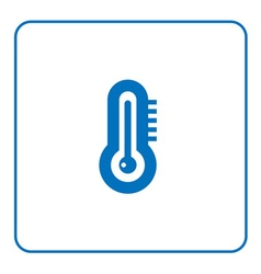 Forecast weather thermometer icon vector