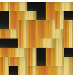 Golden squares Abstract geometric golden seamless vector image