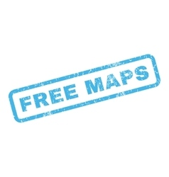 Free maps rubber stamp vector