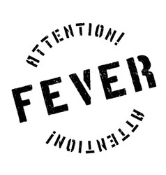 Fever rubber stamp vector
