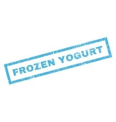 Frozen yogurt rubber stamp vector