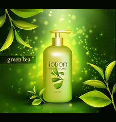 Lotion with green tea vector