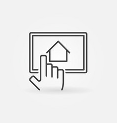 Find real estate via tablet vector