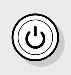 On off switch sign  flat black icon in vector