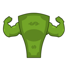 strong dollar powerful cash potent money with big vector image