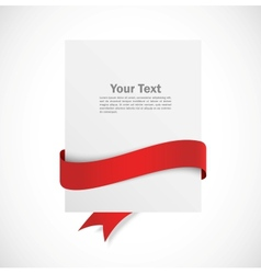 Banner with red ribbon vector image