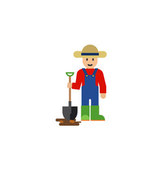 Isolated farmer flat icon man element can vector
