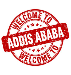 Welcome to addis ababa vector