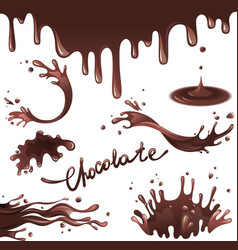 Chocolate splashes vector