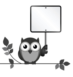 Owl sign vector