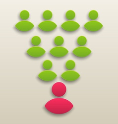 Concept of working together team people icon vector image
