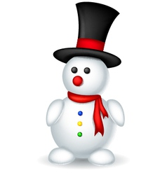 cute snowman cartoon for you design vector image
