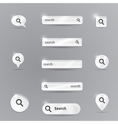 Silver search template vector