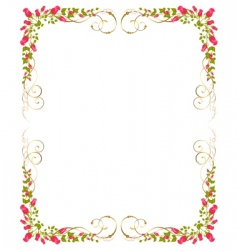 Frame of roses vector