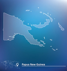 Map of papua new guinea vector