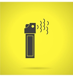 Black teargas can flat icon vector