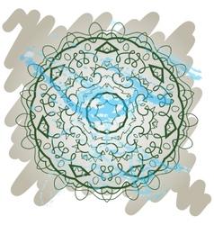Oriental mandala motif what is karma vector image