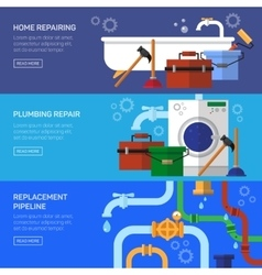 Plumbing repair fix the clog pipeline vector
