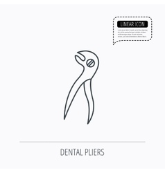 Dental pliers icon stomatological forceps tool vector