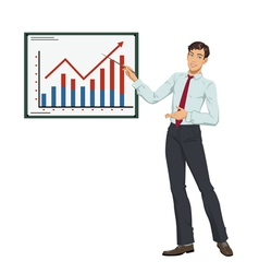Businessman showing presentation vector