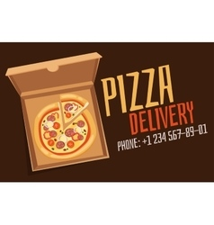 Pizza box vector image