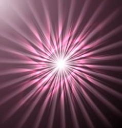 Bright space star in pink hues vector