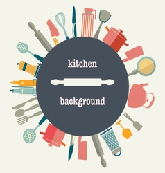 Pattern of kitchen utensil vector