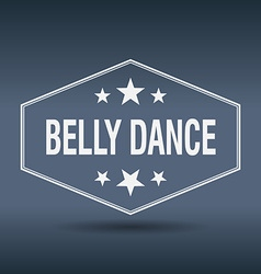 Belly dance hexagonal white vintage retro style vector