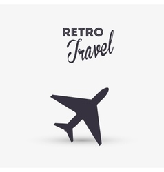 Travel design trip icon isolated vector