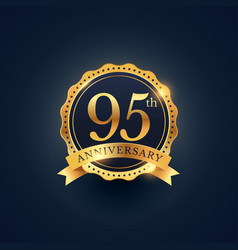 95th anniversary celebration badge label in vector image vector image