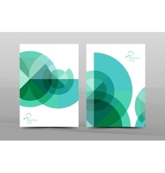 A4 annual report cover vector