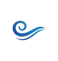 Wave water logo template vector