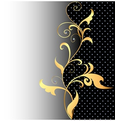 background with ornaments of gold vector image