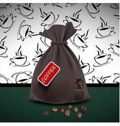 Bag of coffee vector
