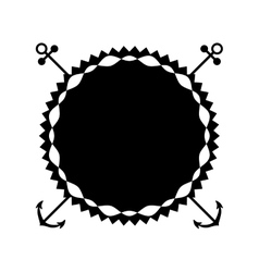 Boho style seal stamp vector
