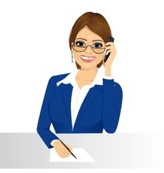 female customer support phone operator vector image