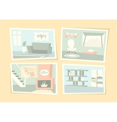 Home interior photos vector