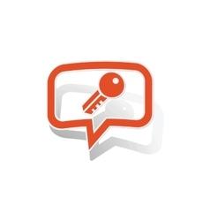 Key message sticker orange vector