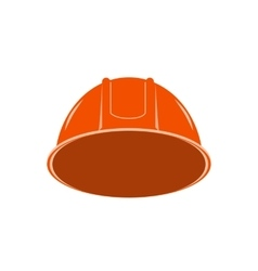 Orange hard hat working vector
