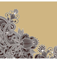 ornate flower background vector image vector image