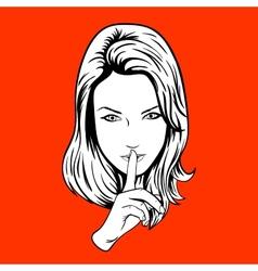 Quieter Girl vector image vector image