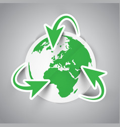 recycling earth symbol vector image