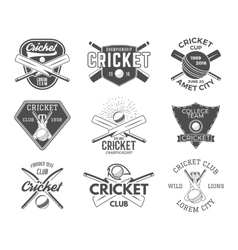 Set of cricket sports logo designs Cricket icons vector image