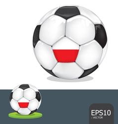 soccer ball poland euro flag vector image vector image