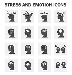 Stress icon vector image