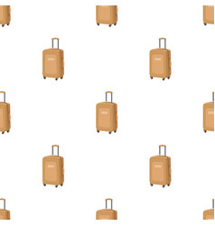 Travel luggage icon in cartoon style isolated on vector