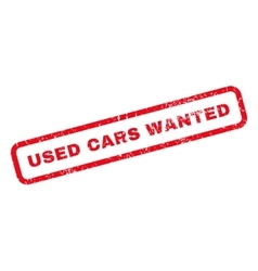 Used Cars Wanted Rubber Stamp vector image vector image