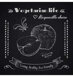 Vegetarian lifestyle background vector