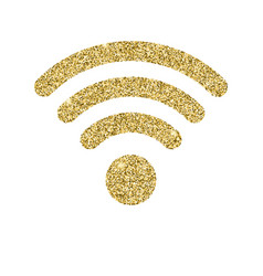 wi-fi icon with glitter effect isolated on white vector image