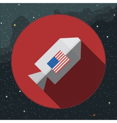 Digital with rocket space ship sign vector image